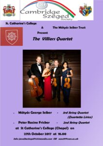 Villiers Quartet October 2017